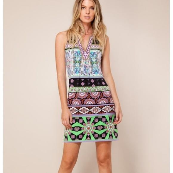 Hale Bob Dresses & Skirts - Hale Bob Embellished Emmie Print Jersey Dress C135
